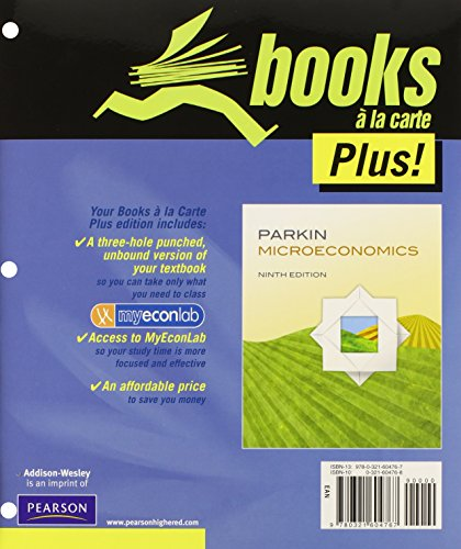 9780132705592: Microeconomics, Student Value Edition, with MyEconLab and Pearson eText (Access Card) (9th Edition)
