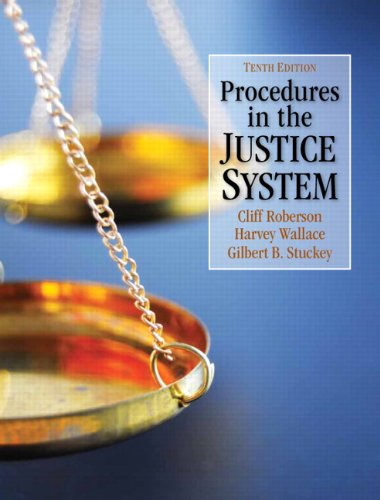 9780132705844: Procedures in the Justice System (10th Edition)
