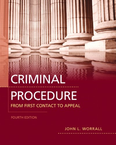 9780132705868: Criminal Procedure: From First Contact to Appeal (4th Edition)