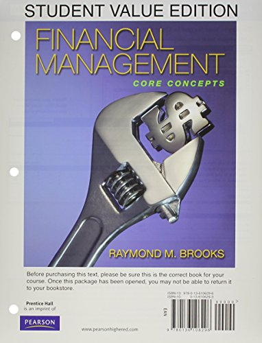 9780132706551: Financial Management: Core Concepts, Student Value Edition and MyFinancialLab with Pearson eText Access Card Package (The Prentice Hall Series in Economics)