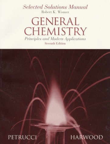 9780132713542: General Chemistry: Principles and Modern Applications : Selected Solutions Manual
