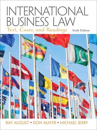 9780132718974: International Business Law: Text, Cases, and Readings