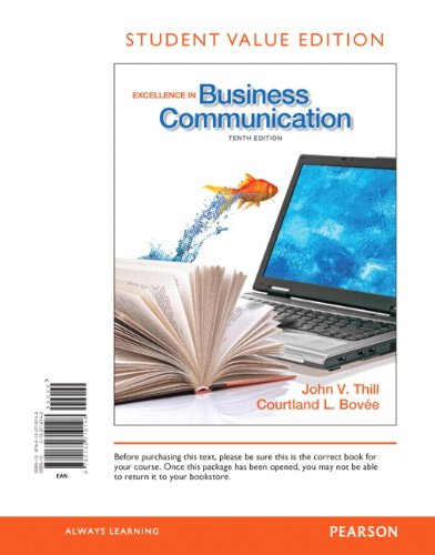 9780132719148: Excellence in Business Communication, Student Value Edition
