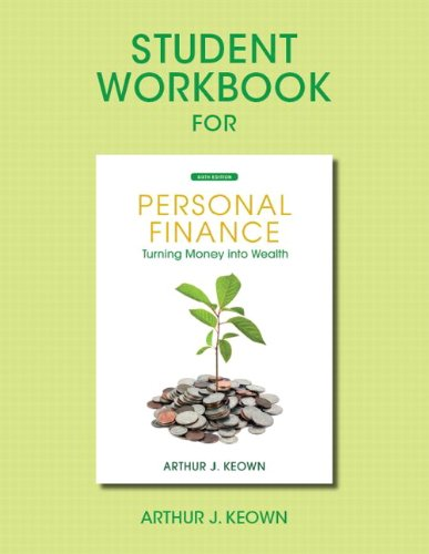 9780132719216: Student Workbook for Personal Finance: Turning Money Into Wealth