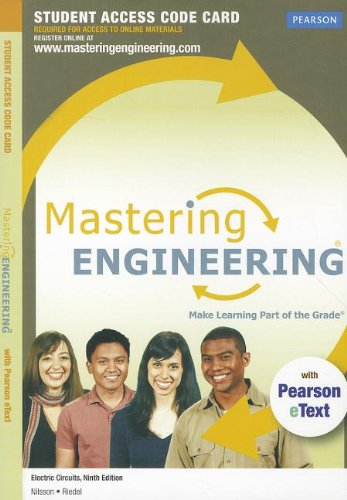 9780132721288: MasteringEngineering with Pearson eText -- Access Card -- for Electric Circuits