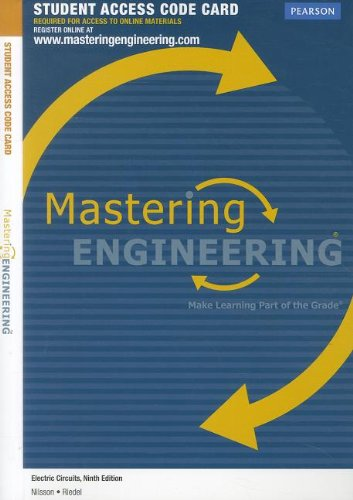 9780132721424: MasteringEngineering without Pearson eText -- Access Card --for Electric Circuits