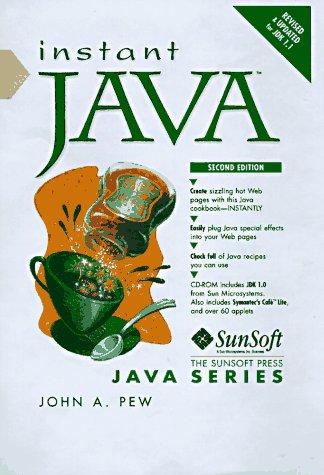 9780132722872: Instant Java (SunSoft Press Java)