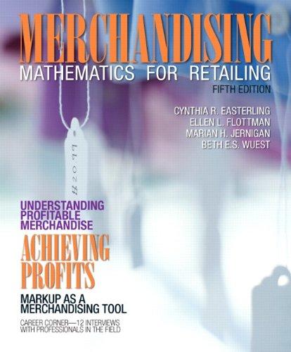 9780132724166: Merchandising Mathematics for Retailing (Fashion)