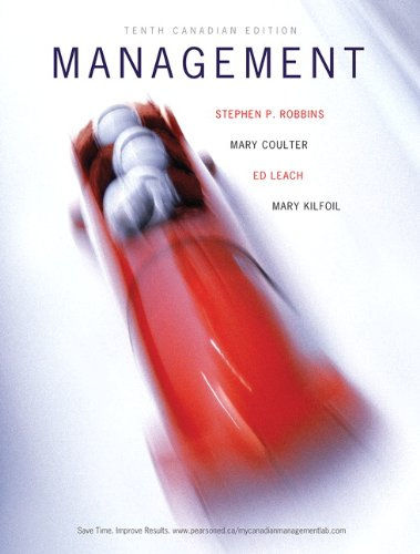 9780132724173: Management, Tenth Canadian Edition with MyManagementLab (10th Edition)