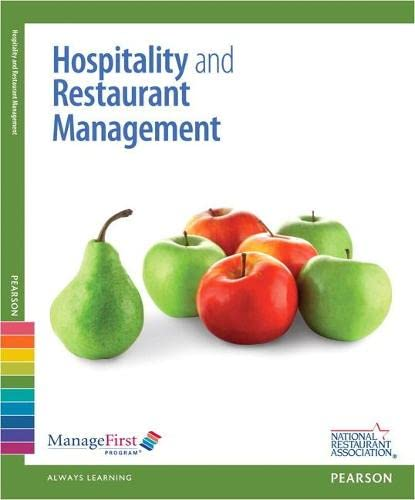 9780132724470: ManageFirst: Hospitality and Restaurant Management w/Online Testing Voucher (2nd Edition) (Managefirst Program)