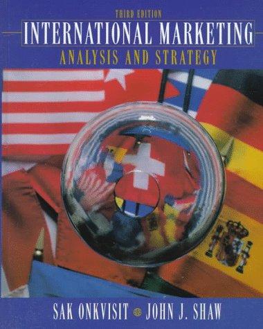 9780132724517: International Marketing: Analysis and Strategy (3rd Edition)