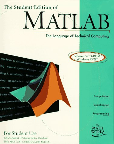 9780132724777: Student Edition of MATLAB Version 5 for Windows