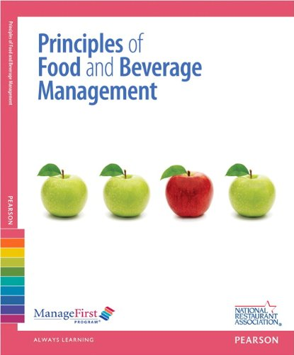 9780132725491: ManageFirst: Principles of Food and Beverage Management with Answer Sheet (Managefirst Program)