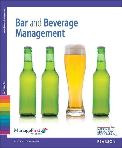 9780132725736: ManageFirst: Bar and Beverage Management with Answer Sheet (2nd Edition)