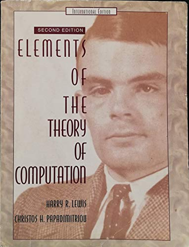 9780132727419: Elements of the Theory of Computation
