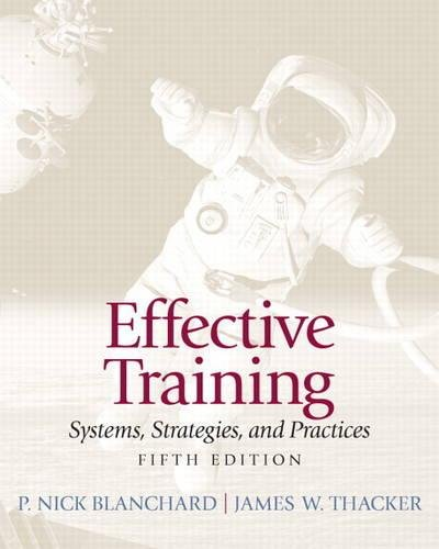 Effective Training: Systems, Strategies, and Practices