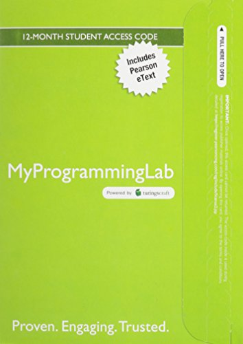 9780132729772: MyProgrammingLab with Pearson eText - Access Card - For Starting Out with C++: From Control Structures Through Objects (Myprogramminglab Series Myprogramminglab)