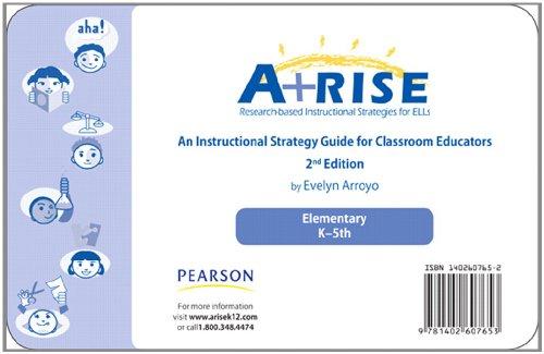 9780132730372: Arise Instructional Strategy Card Set K-5