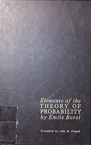 9780132734257: Elements of the Theory of Probability