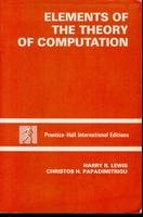 9780132734264: Elements of the Theory of Computation