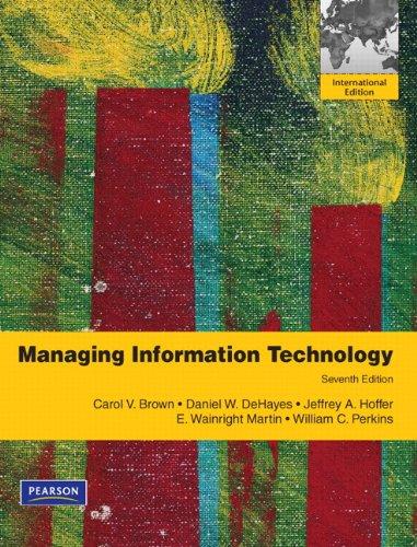 9780132737531: Managing Information Technology