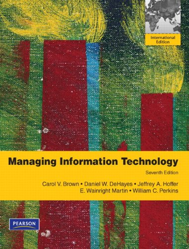 9780132737531: Managing Information Technology