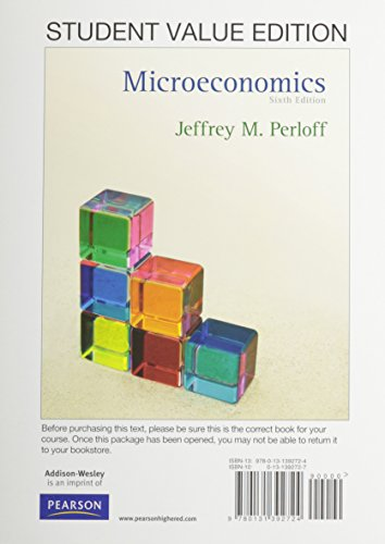 9780132738613: Microeconomics, Student Value Edition plus MyEconLab with Pearson eText -- Access Card Package (6th Edition)