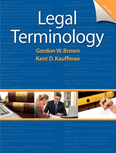 9780132738767: Legal Terminology (6th Edition)