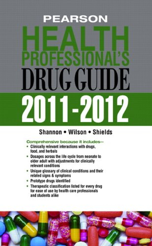 9780132738774: Pearson Health Professional's Drug Guide 2011-2012 (Pharmacology)