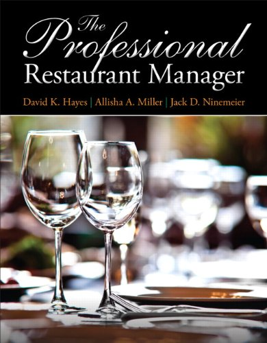 9780132739924: The Professional Restaurant Manager