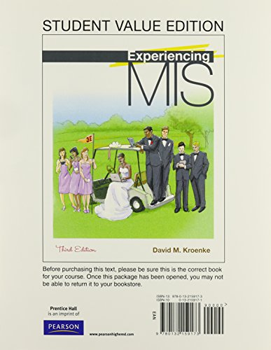 Experiencing MIS, Student Value Edition Plus MyMISLab: David Kroenke