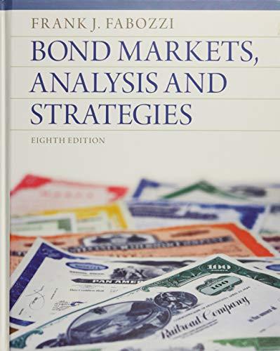 9780132743549: Bond Markets, Analysis and Strategies