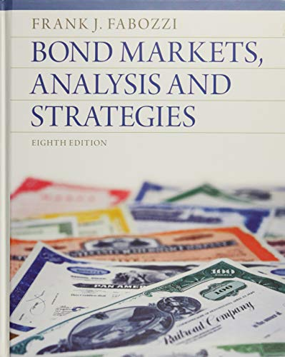 9780132743549: Bond Markets, Analysis and Strategies