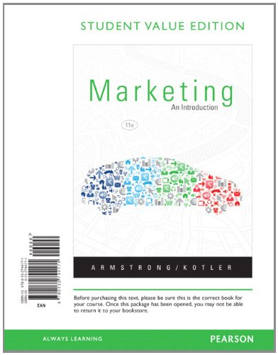 9780132744171: Marketing: An Introduction, Student Value Edition (11th Edition)
