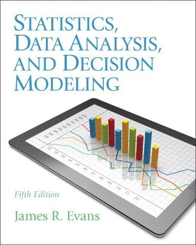9780132744287: Statistics, Data Analysis, and Decision Modeling (5th Edition)