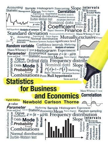 Statistics for Business and Economics: Newbold, Paul