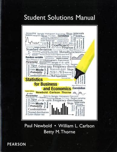 9780132745680: Student Solutions Manual for Statistics for Business and Economics