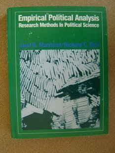 9780132746052: Empirical Political Analysis: Research Methods in Political Science