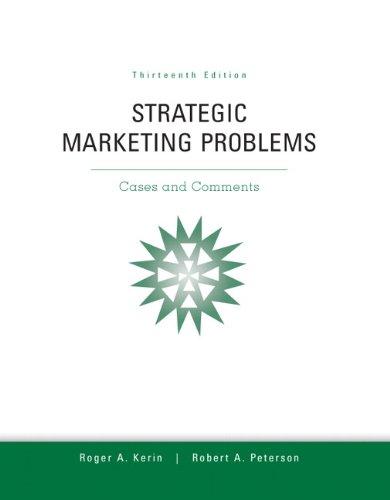 9780132747257: Strategic Marketing Problems