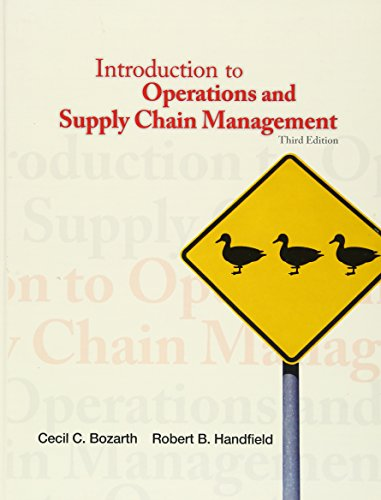 Introduction to Operations and Supply Chain Management: Bozarth, Cecil B.;