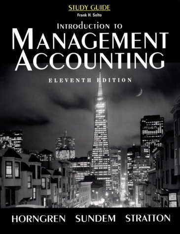 9780132749381: Introduction to Management Accounting: Study Guide