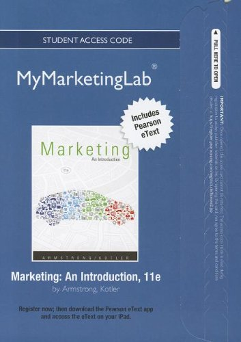 9780132749558: 2012 MyMarketingLab with Pearson eText -- Access Card -- for Marketing: An Introduction