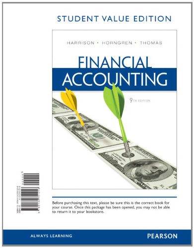 9780132751216: Financial Accounting, Student Value Edition (9th Edition)