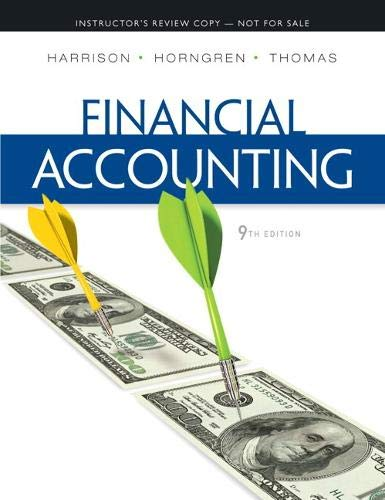 Financial Accounting (9th Edition) (Instructor's Review Copy): Walter T. Harrison
