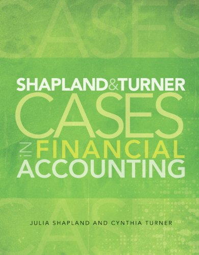 9780132752817: Shapland and Turner Cases in Financial Accounting