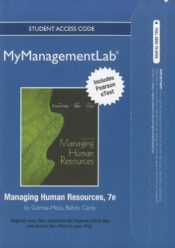 9780132753180: mymanagementlab with Pearson eText Student Access Code Card for Managing Human Resources