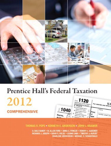 9780132754262: Prentice Hall's Federal Taxation 2012 Comprehensive (25th Edition)