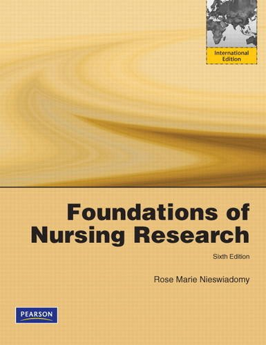 9780132756235: Foundations in Nursing Research