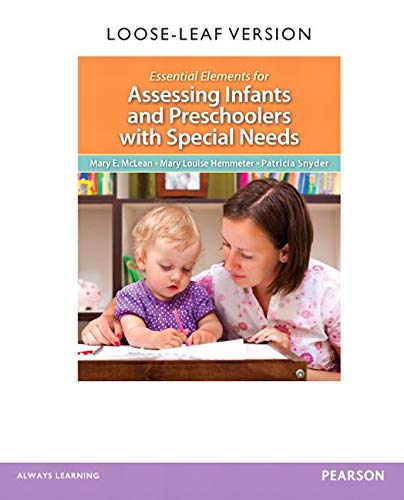 9780132757072: Essential Elements for Assessing Infants and Preschoolers with Special Needs