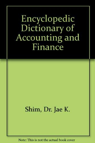 9780132758017: Encyclopedic Dictionary of Accounting and Finance